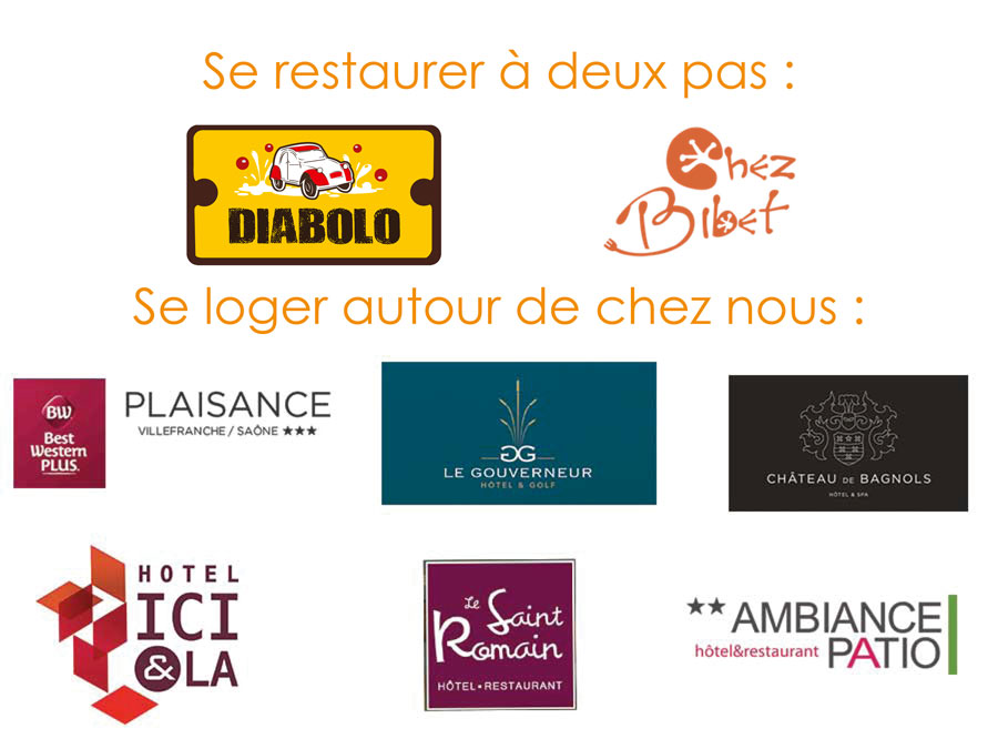 Logos restaurants hotels Anse